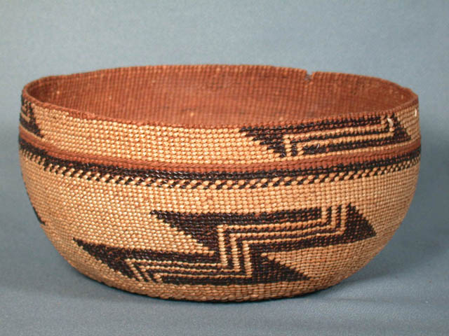 Twined Basketry Bowl