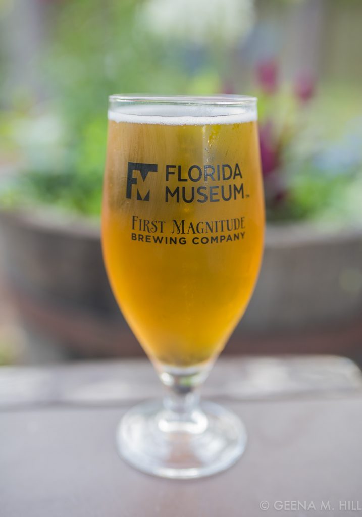 Bartram's Blonde glass with logos