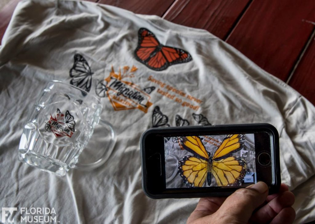 T-shirts featuring augmented reality using the Libraries of Life app