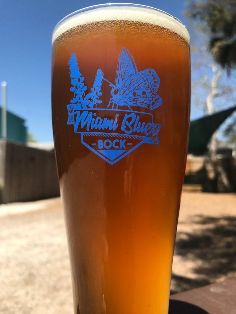 Miami Blue Bock glass