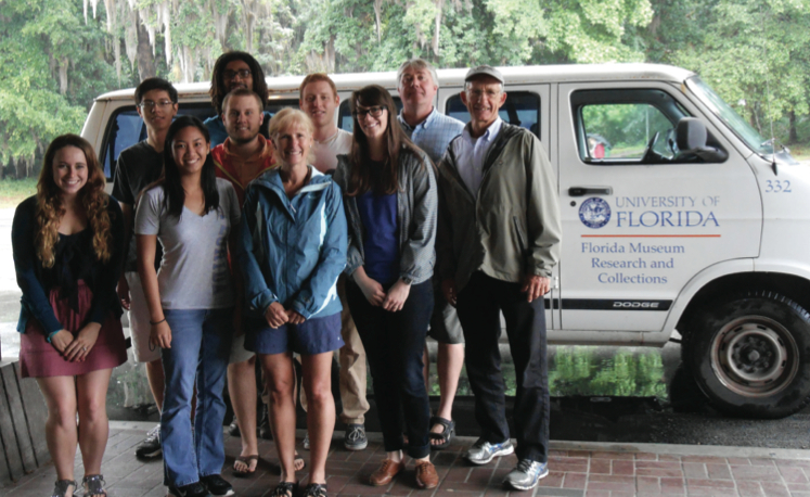University of Florida undergraduate biology students on a museum field trip to collect plant specimens at the Ordway-Swisher Biological Station.