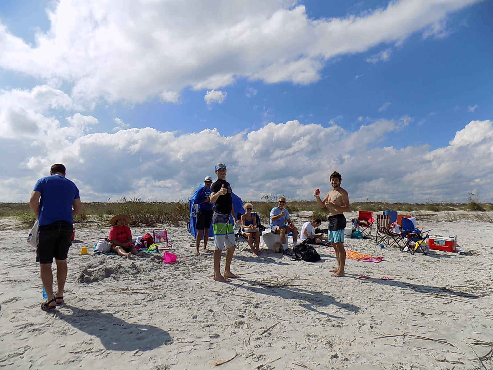 Soltis lab at the beach
