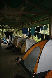 Camping at the San Pedro Plataform.