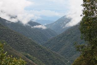 View of the Kcosnipata rive from Wayquecha.