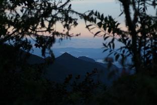 Sunset at Wayquecha, 2900m.