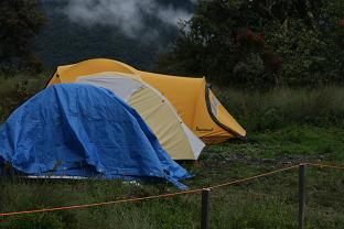 Camping site at Wayquecha, 2900m.