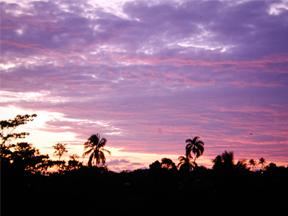 Sunset in Buenaventura, Colombia