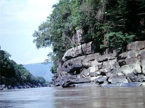 Raudal in Guayavero river