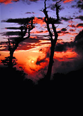 Sunset at Volcan Cacaco, Costa Rica