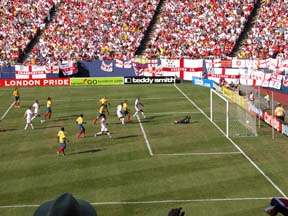 Second goal of Colombia during the game with England