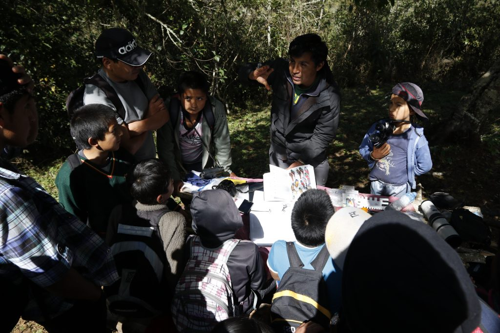 Bird workshop in Levanto's community forest.