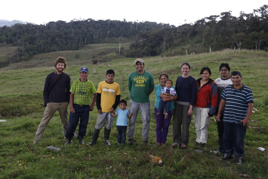 Don Diego and his family at our study area in Pomacochas