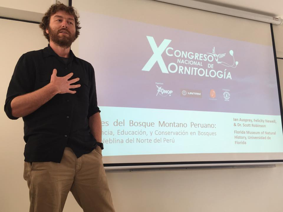 Ian presents at the ornithological conference