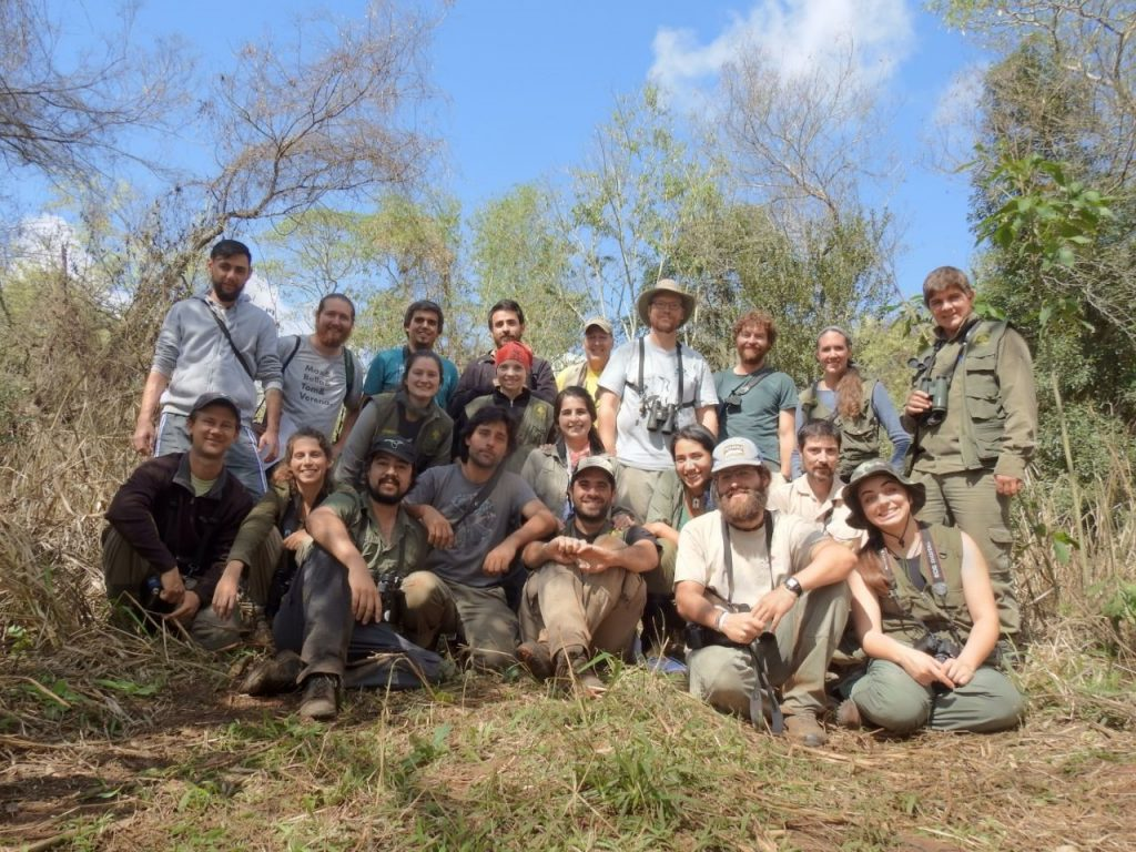 Banding workshop at Iguazu National Park, Argentina as part of the 2017 Ornithological Congress of the Americas.
